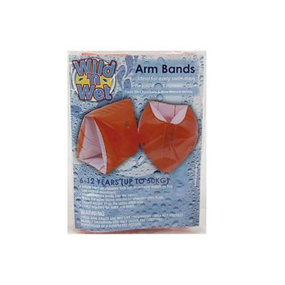 12x8inch Orange And White Armbands In Pp Bag With Printed Insert