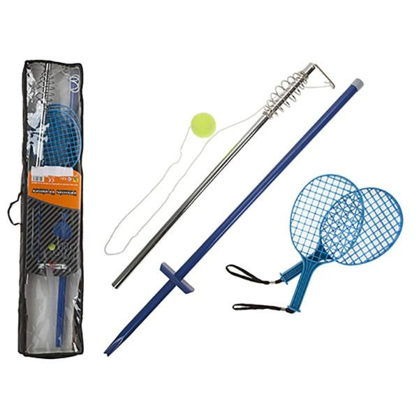 Tennis Trainer Set With Ball And 2x Bats In Nylon Carry Bag