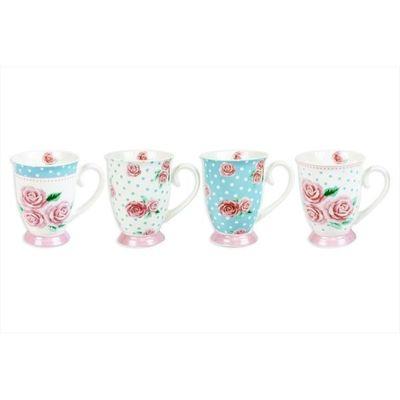 Bone China Mug 4 Assorted Afternoon Tea Designs