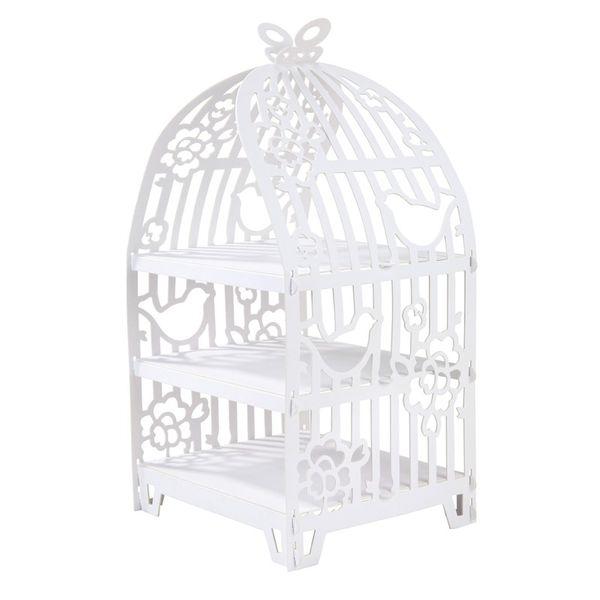 White Birdcage Cake Stand
