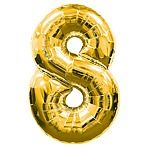 8 Number Balloon Gold