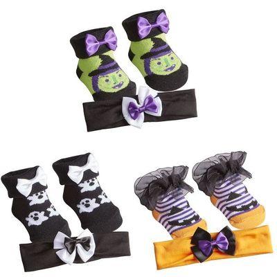 Babies Sock & Headband Set by Baby Town - Halloween