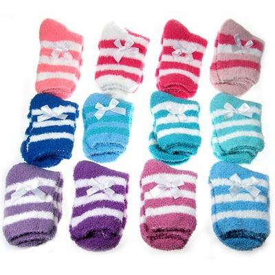 Cosy Ladies Bed Socks  by Soft Touch