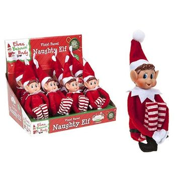 12 inch Long Leg Soft Body Vinyl Face Elf With hat&tag.