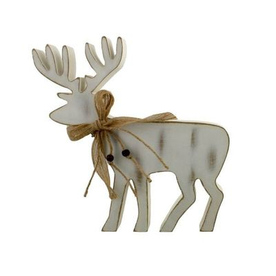 Silver Sparkle Mdf Reindeer Figue 23cm - perfect for personalisation