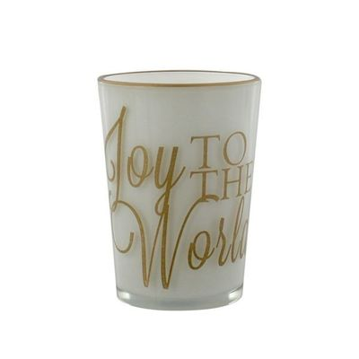 Golden Grandeur Candle Holder - Joy To The World