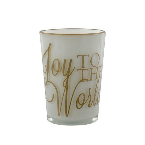 Golden Grandeur Candle Holder - Joy To The World
