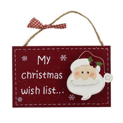 Mdf Hanging Decoration - My Christmas Wish List