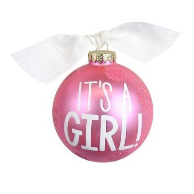 Coton Colors Pink dots Bauble 10cm - Its A Girl