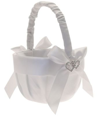 Diamante Heart Flower Basket