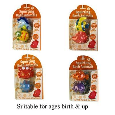 Squirting Bath Animals (2pcs)  4 Assorted