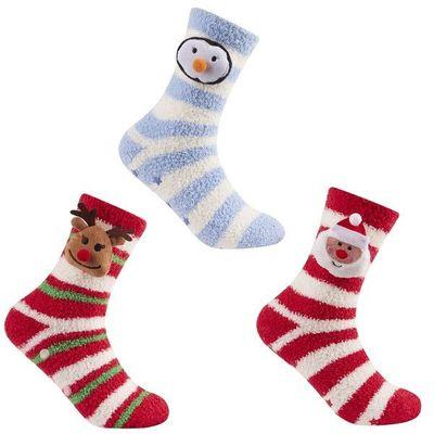 Ladies 1pr Xmas 3d Novelty Socks In Box