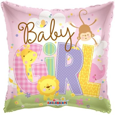 Baby Girl Animals Balloon