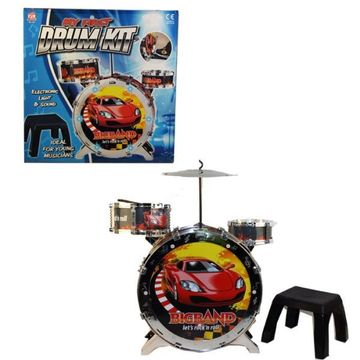 Light Up Drum Kit With Stool